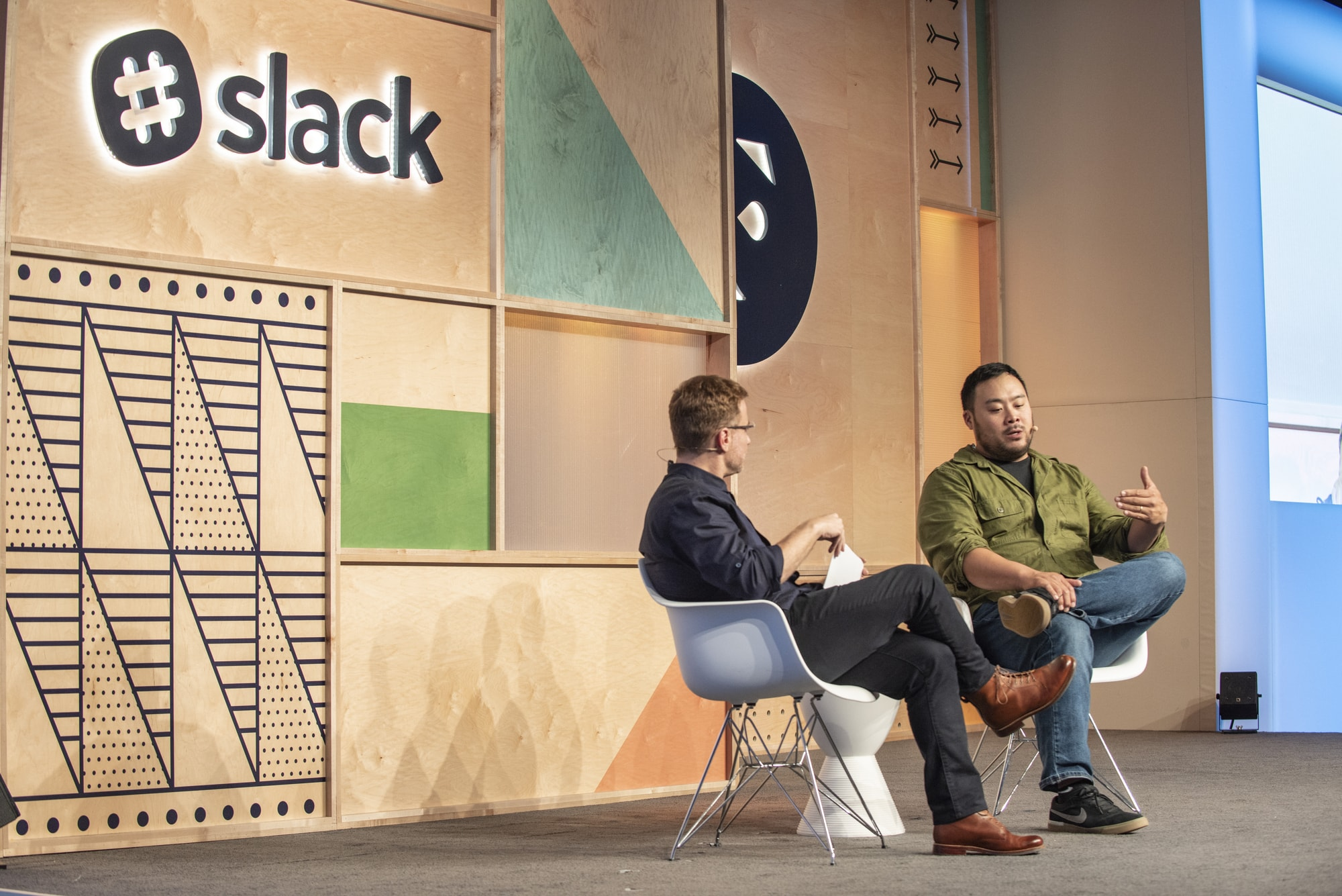 David Chang and Stewart Butterfield at Frontiers