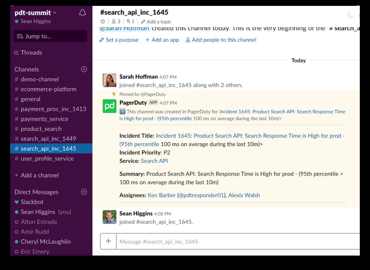 PagerDuty app for Slack