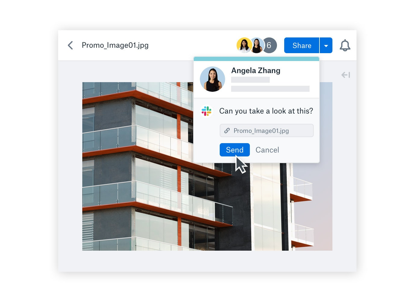 Direct messaging a file to a Slack user inside of Dropbox