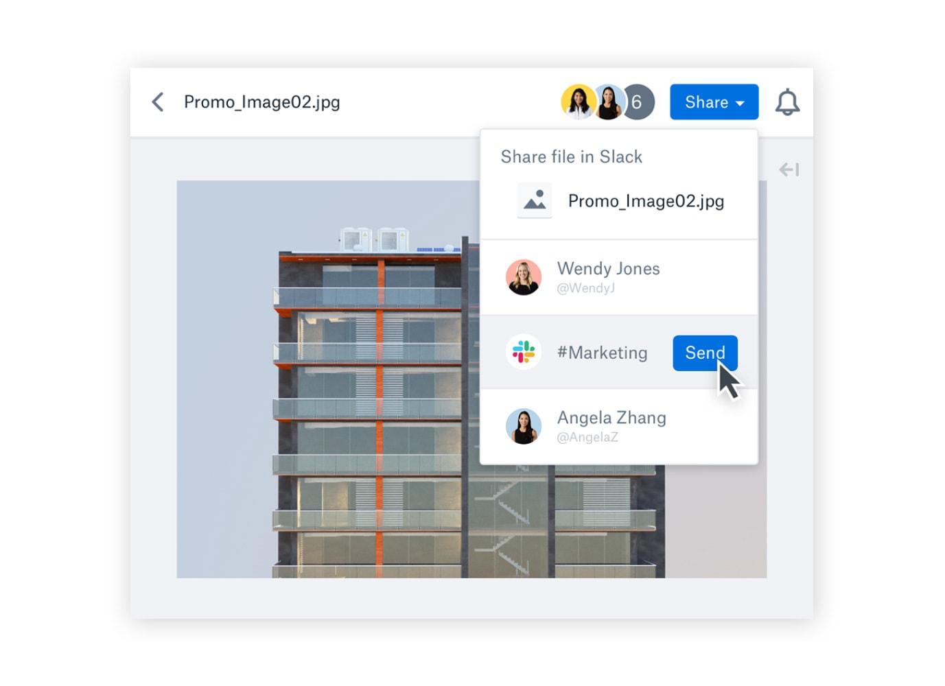 Share a Dropbox file in Slack