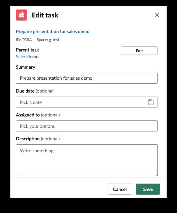 Workast app for Slack