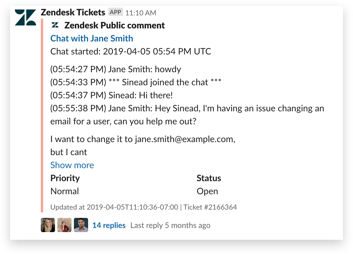 Start a thread from an automated message in Slack