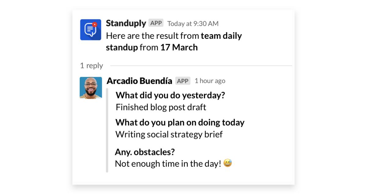Standuply app for Slack