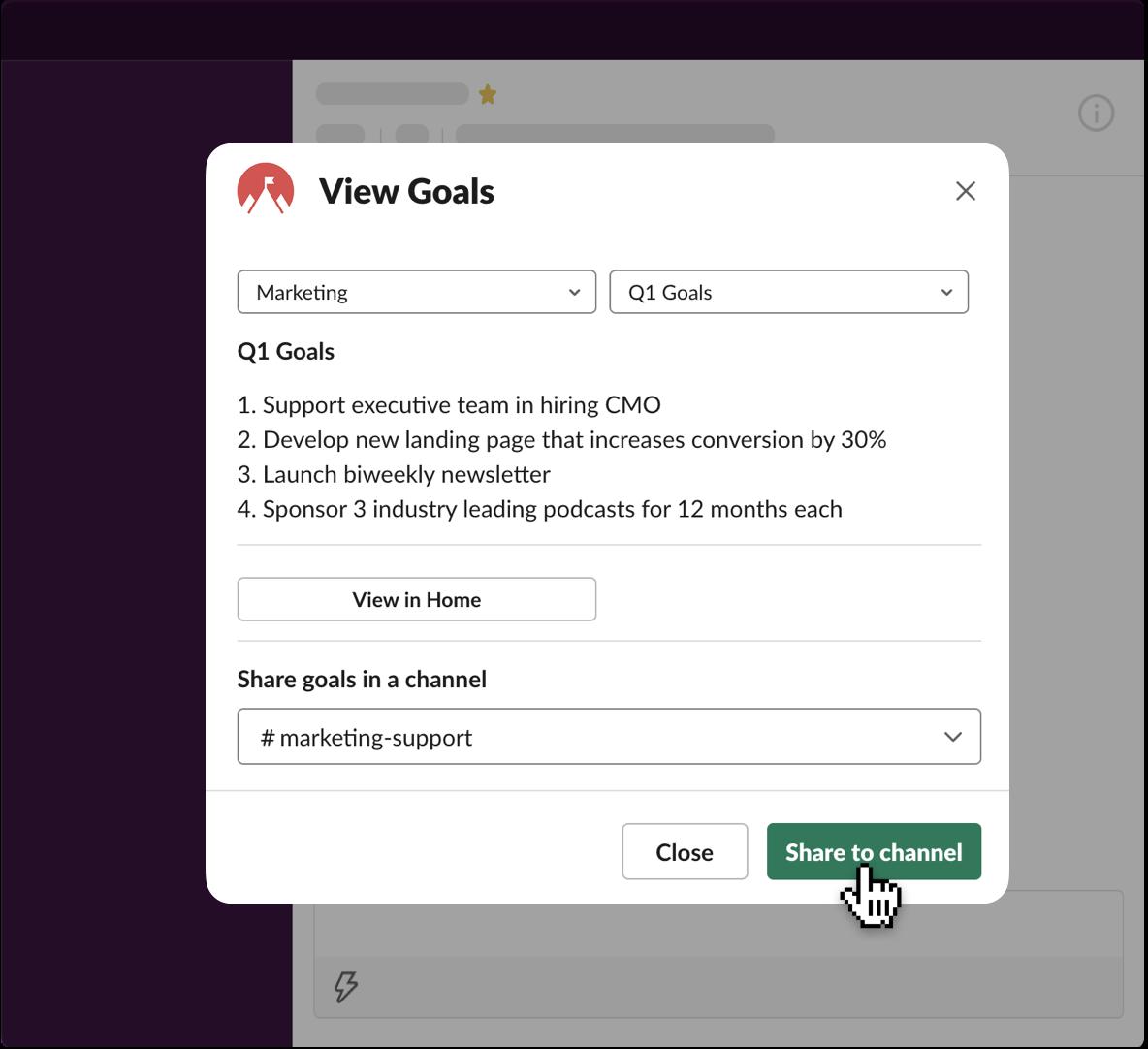 Simple Goals app UI