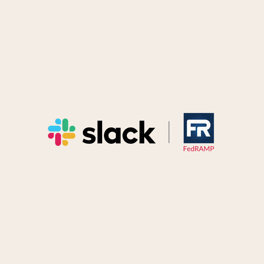 Slack and FedRAMP logos