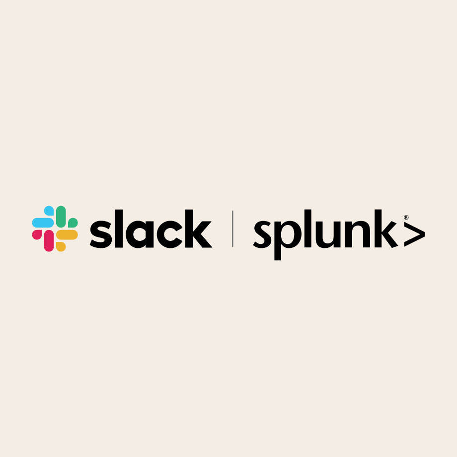 Slack and Splunk logos