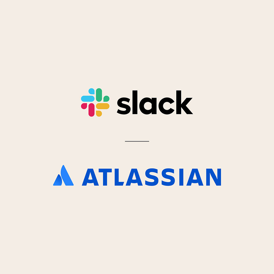 Slack and Atlassian logos