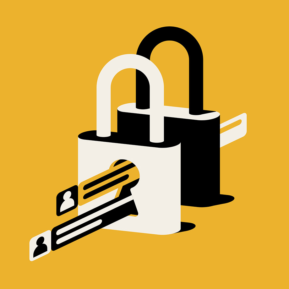 slack connect security lock and key