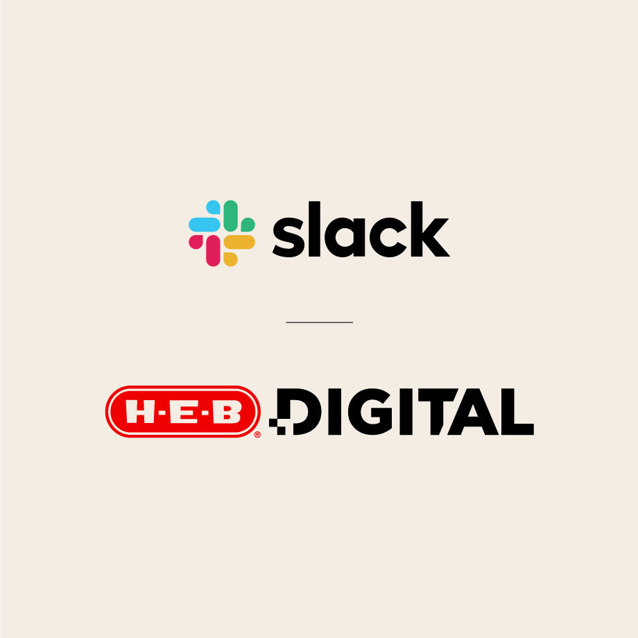 Slack and HEB logos