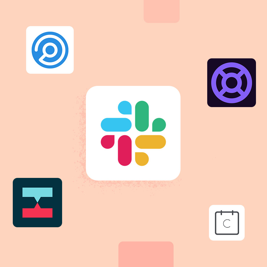 App icons for Slack, Halp, Crossbeam, Calendly and Highspot