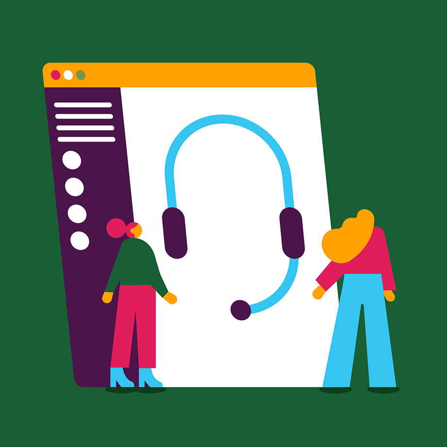 Customer service agents strategize around an image of a headset in Slack.