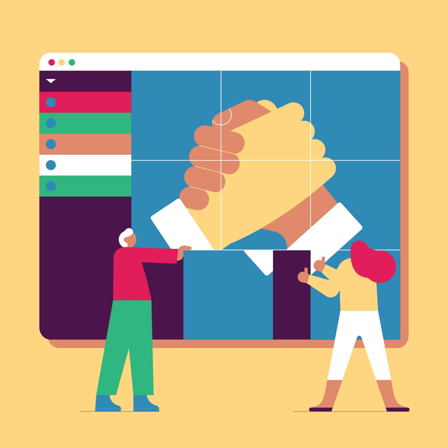 Renforcez la collaboration dans un environnement de travail hybride grâce à Slack.