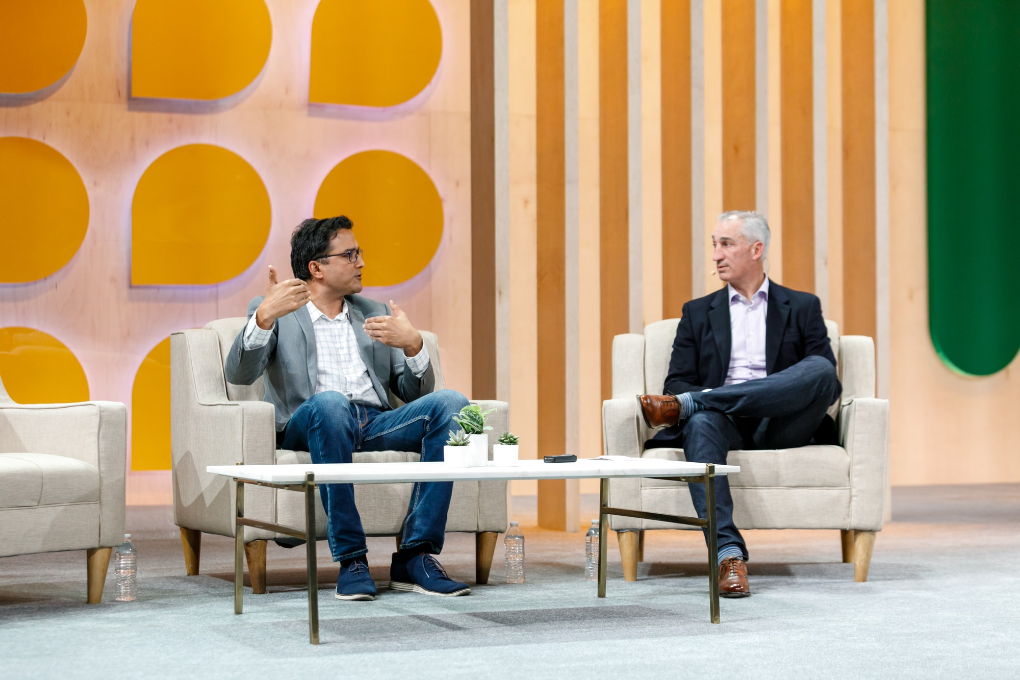 Robert Frati, SVP of Sales and Customer Success at Slack, and Gopi Parampalli, VP of IT at Electronic Arts