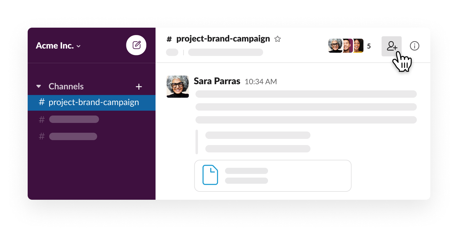 Adding teammates to a Slack channel