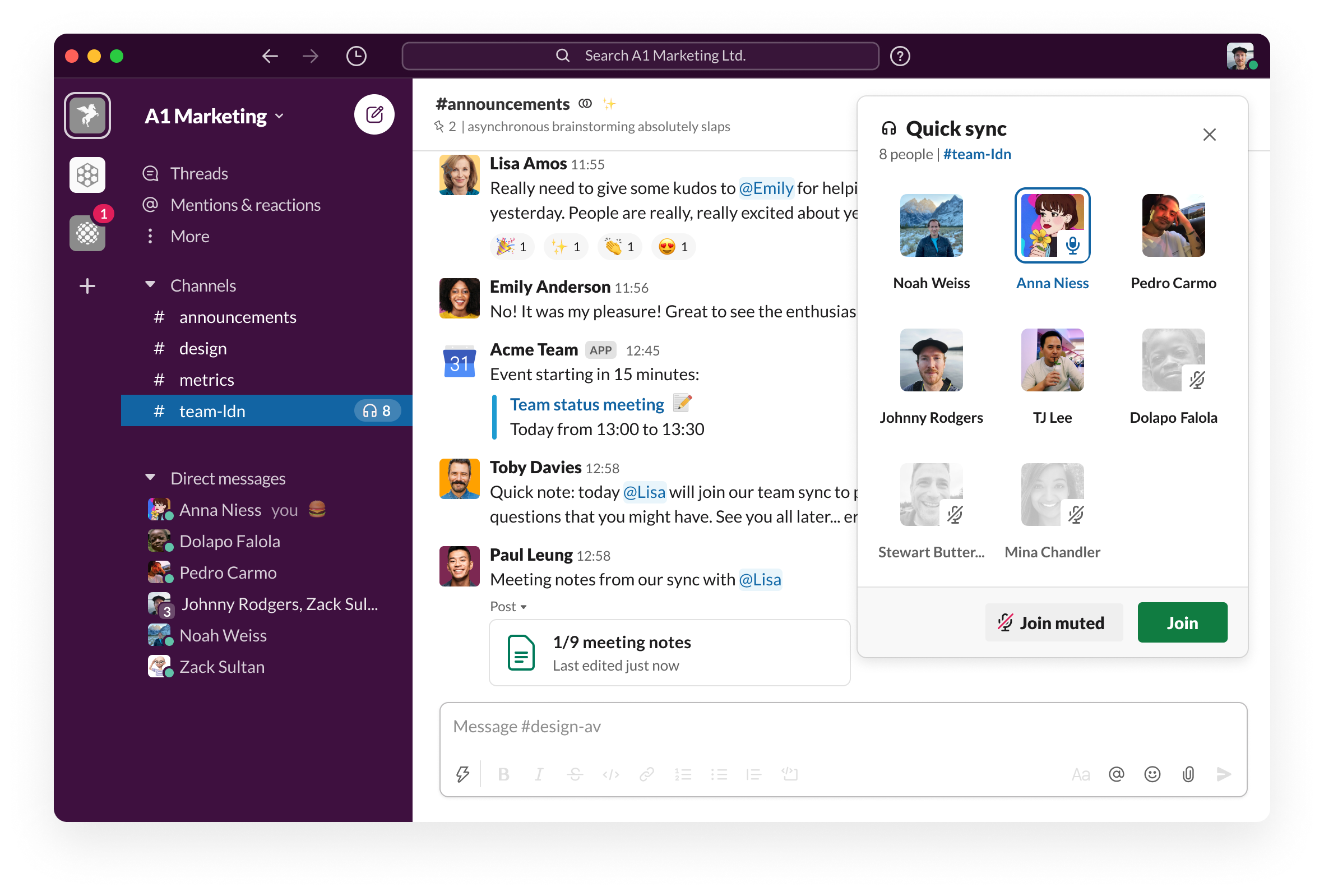 A prototype of a new, audio-first way of communicating in Slack