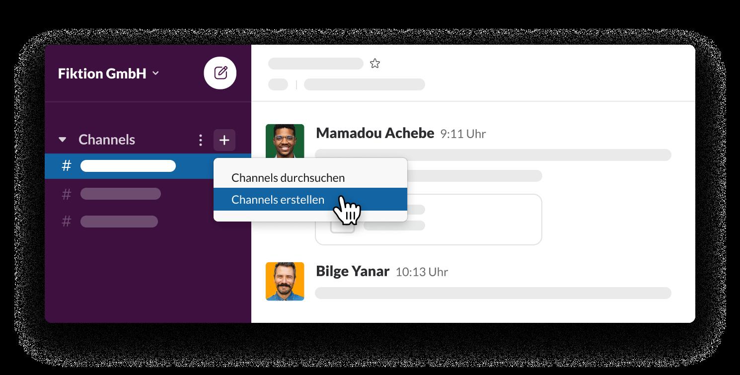 Channels in Slack erstellen