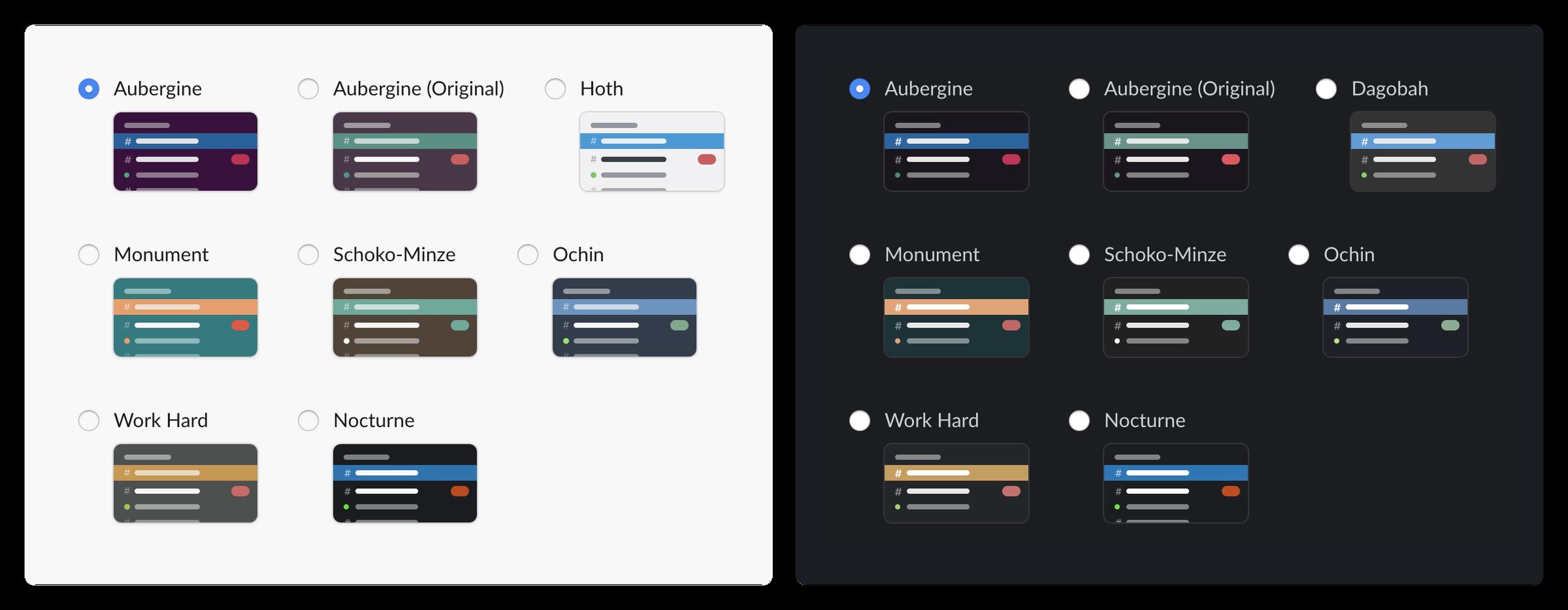 Seitenleisten-Designs für Dark Mode
