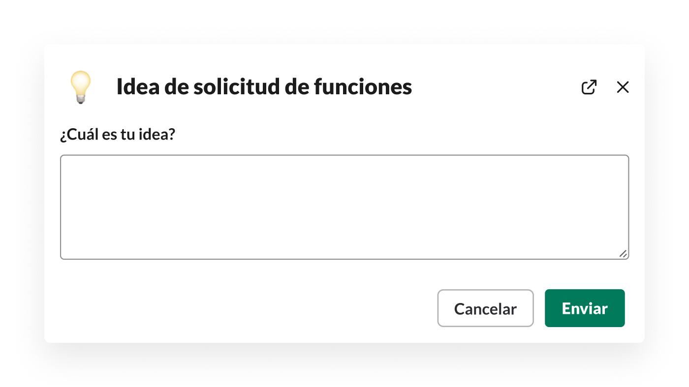 Un formulario para recopilar ideas de funciones creado con el Generador de flujos de trabajo