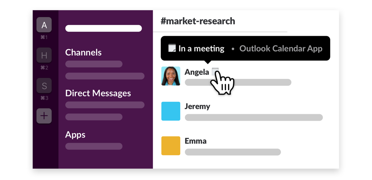 Soon you'll be able to automatically sync your status in Slack with your favorite calendar