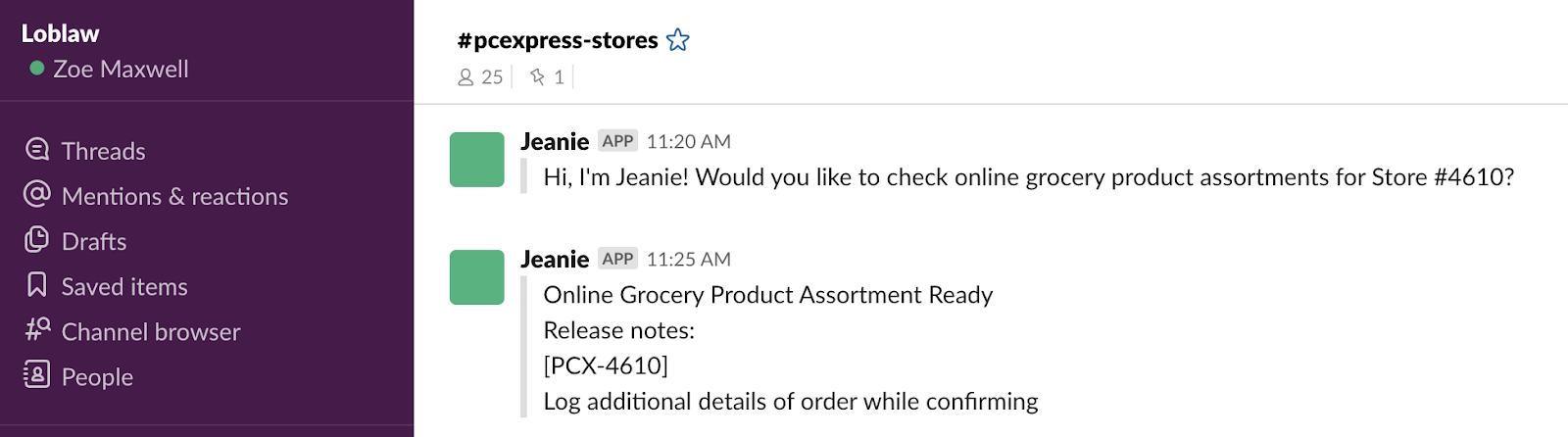 Using Jeanie app to minimize lost revenue