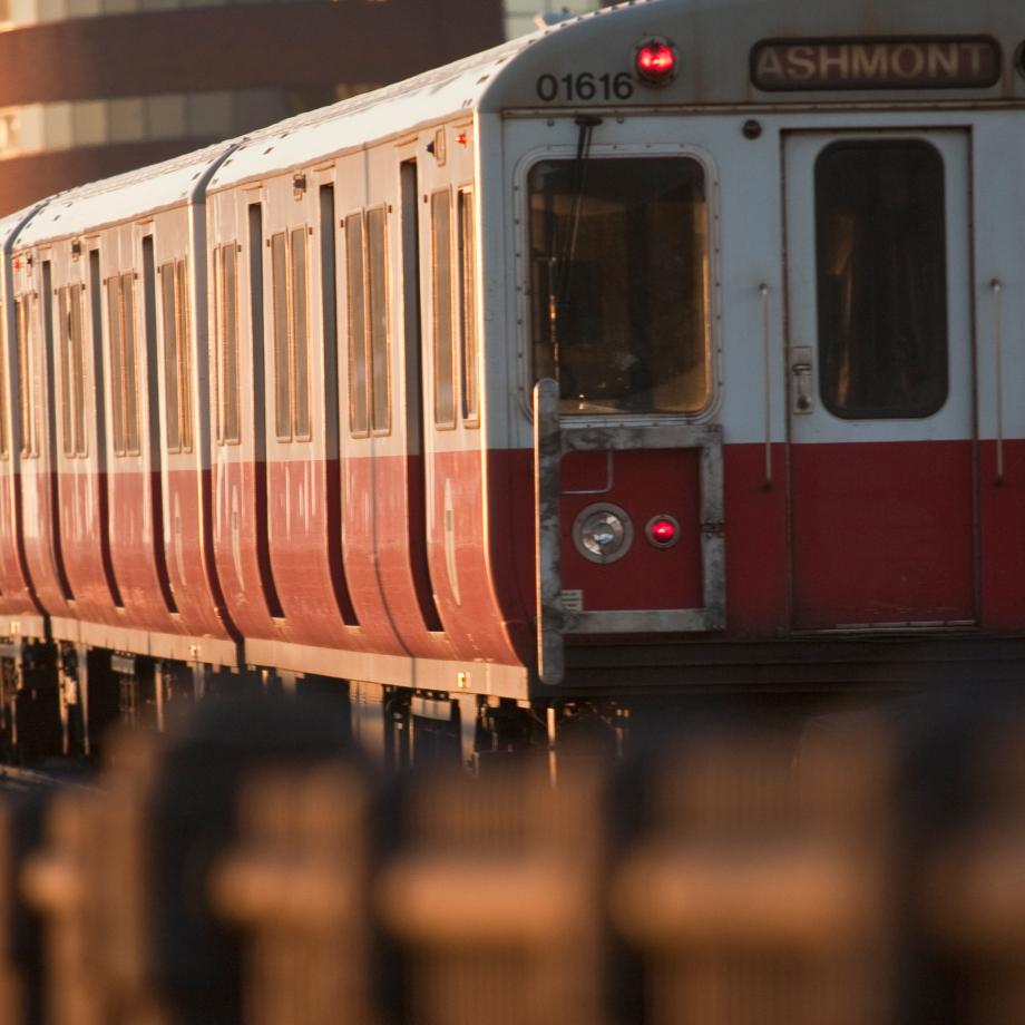 Photo of an MBTA train