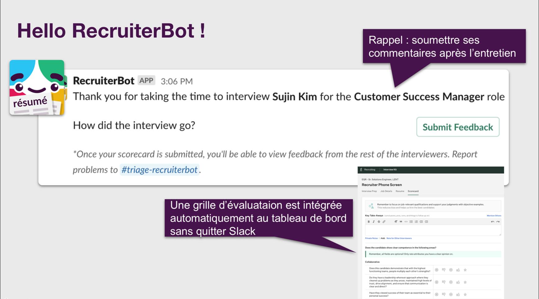 Recruiter bot message
