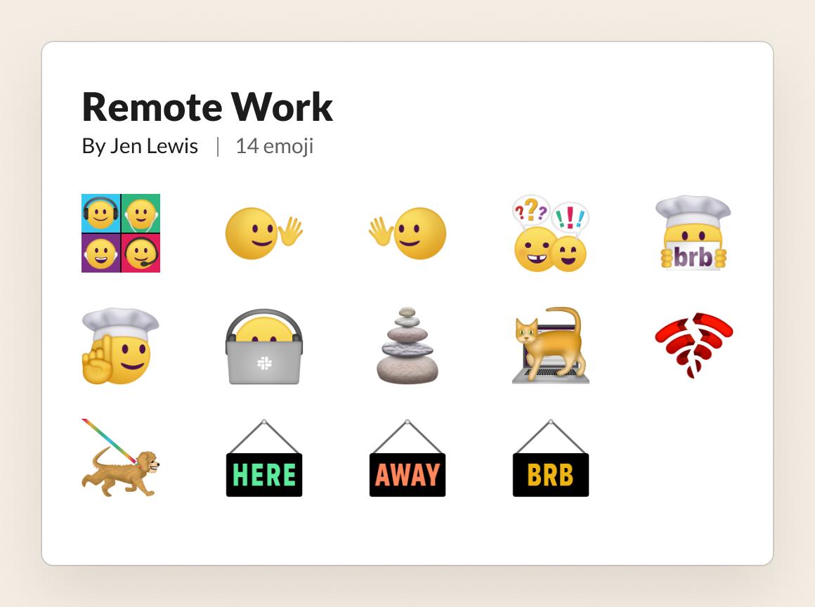 "The new remote work ""emoji pack"" by artist Jen Lewis"