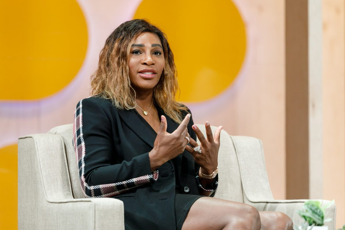 Serena Williams speaks at Slack's 2019 Frontiers conference.