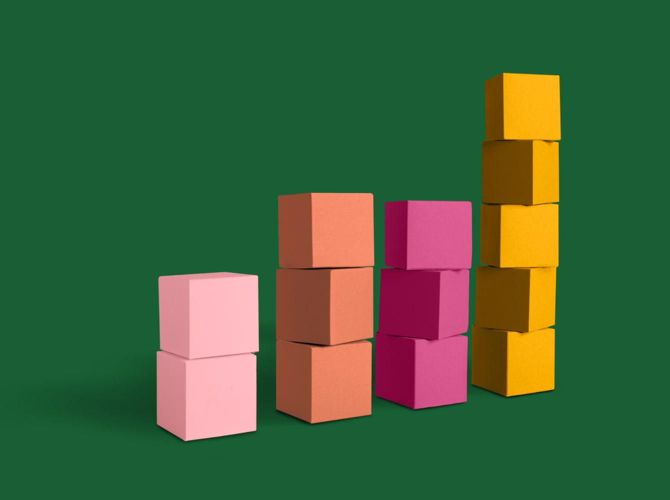 Colorful blocks representing financial services