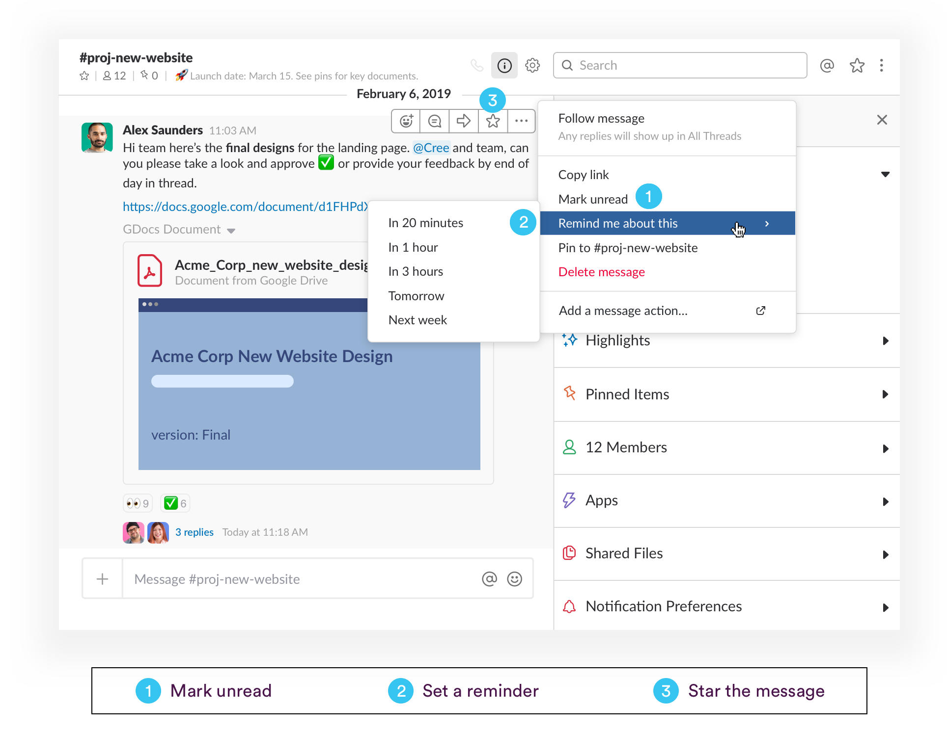 Three ways to respond to Slack messages at a more convenient time