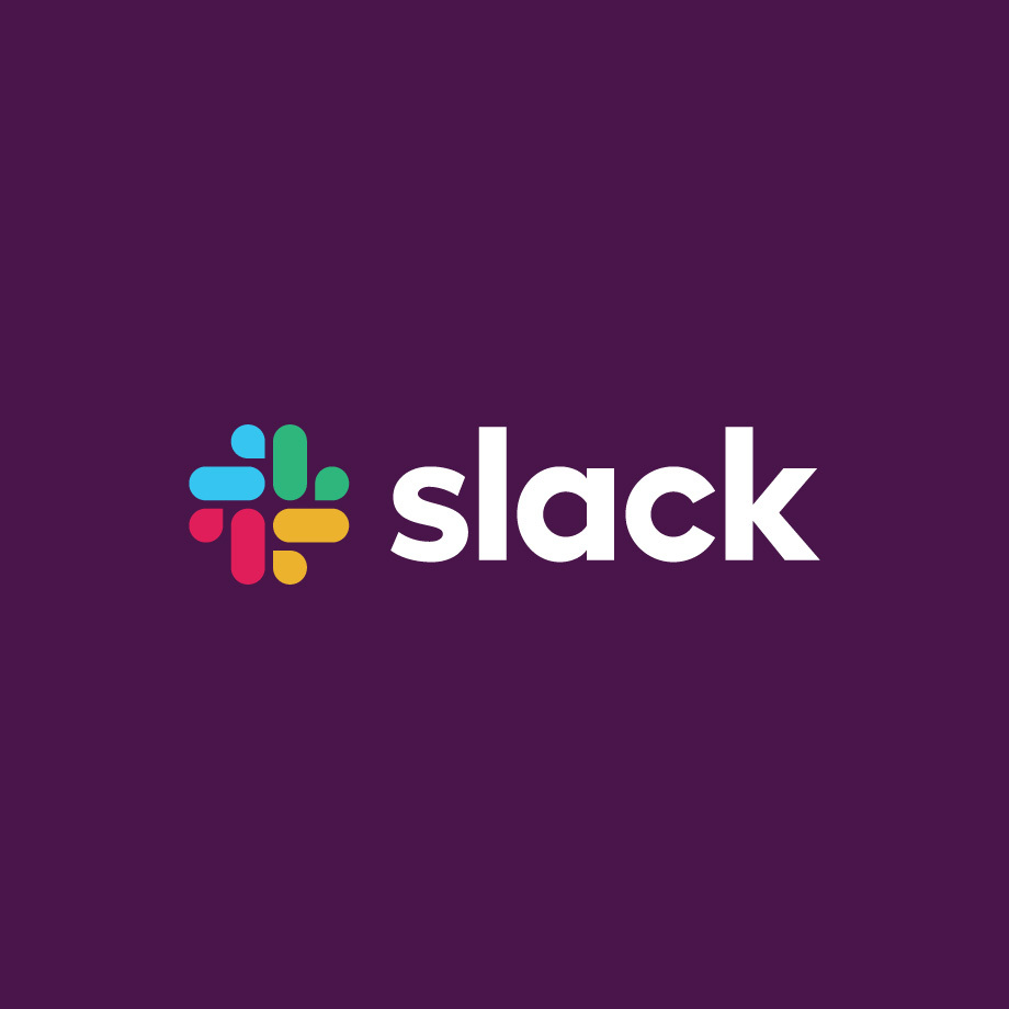 Slack logo against plain background
