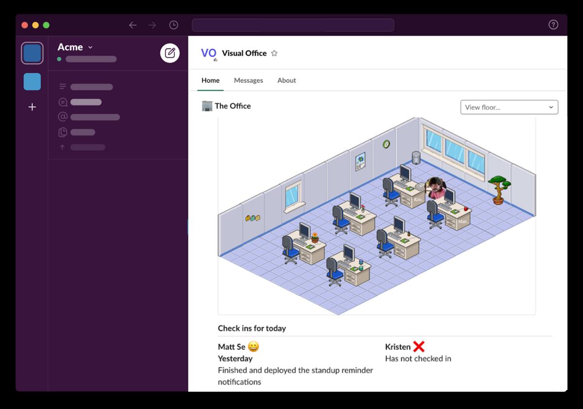 visual office UI screenshot