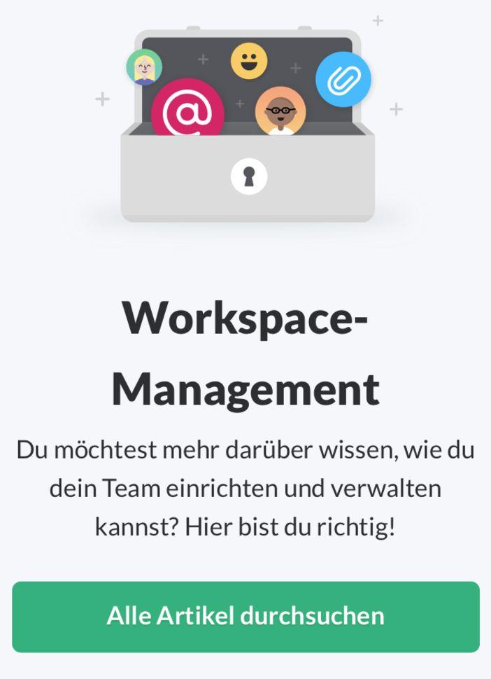 ドイツ語版の例。「Workspace-Management」と英語のまま取り入れています