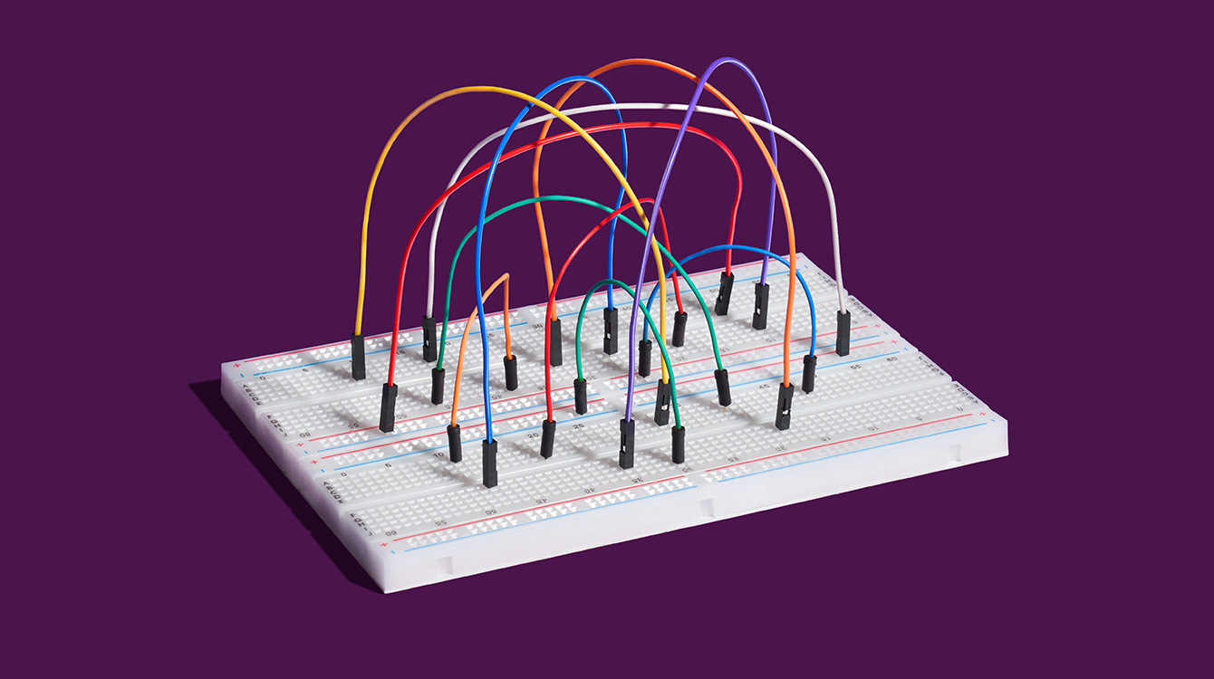 colored wires representing interactive Slack apps
