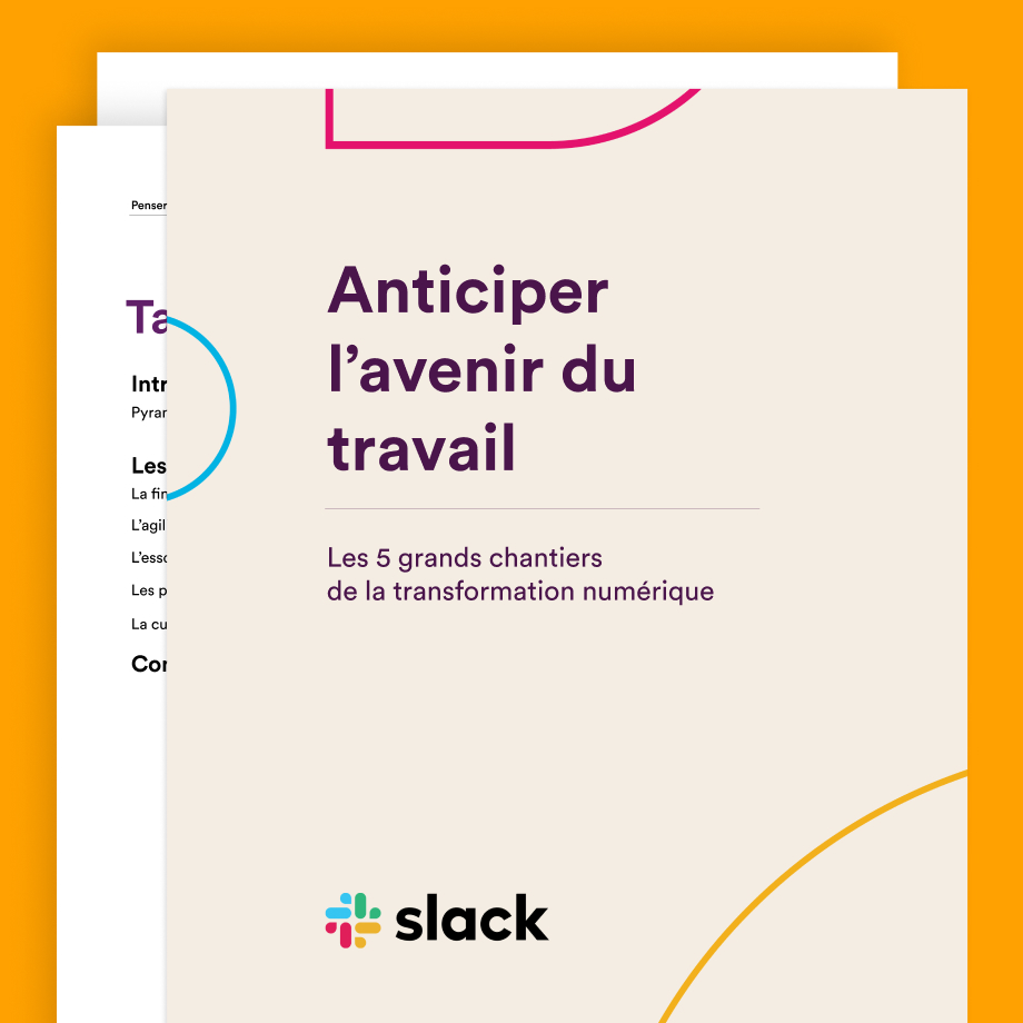 Cover of the Navigating the Disruption of Work guide by Slack