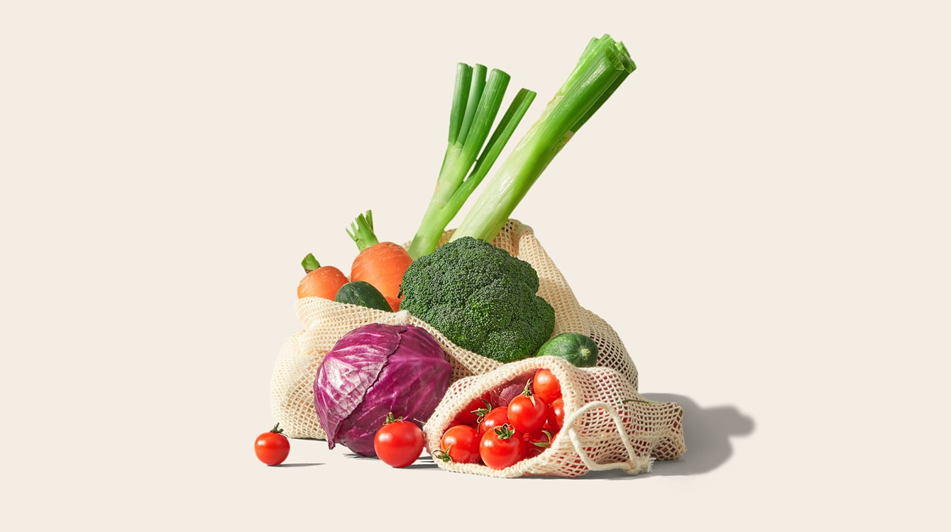 vegetables in bags
