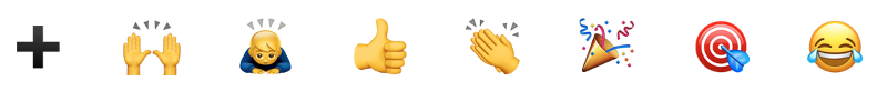 A selection of common Slack emoji