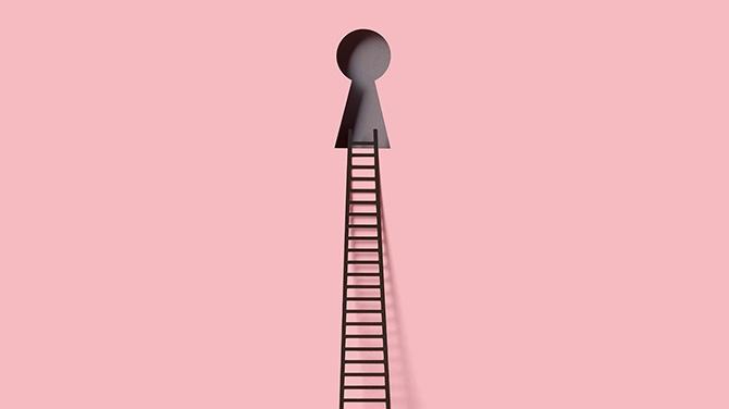 はしごのある鍵穴
