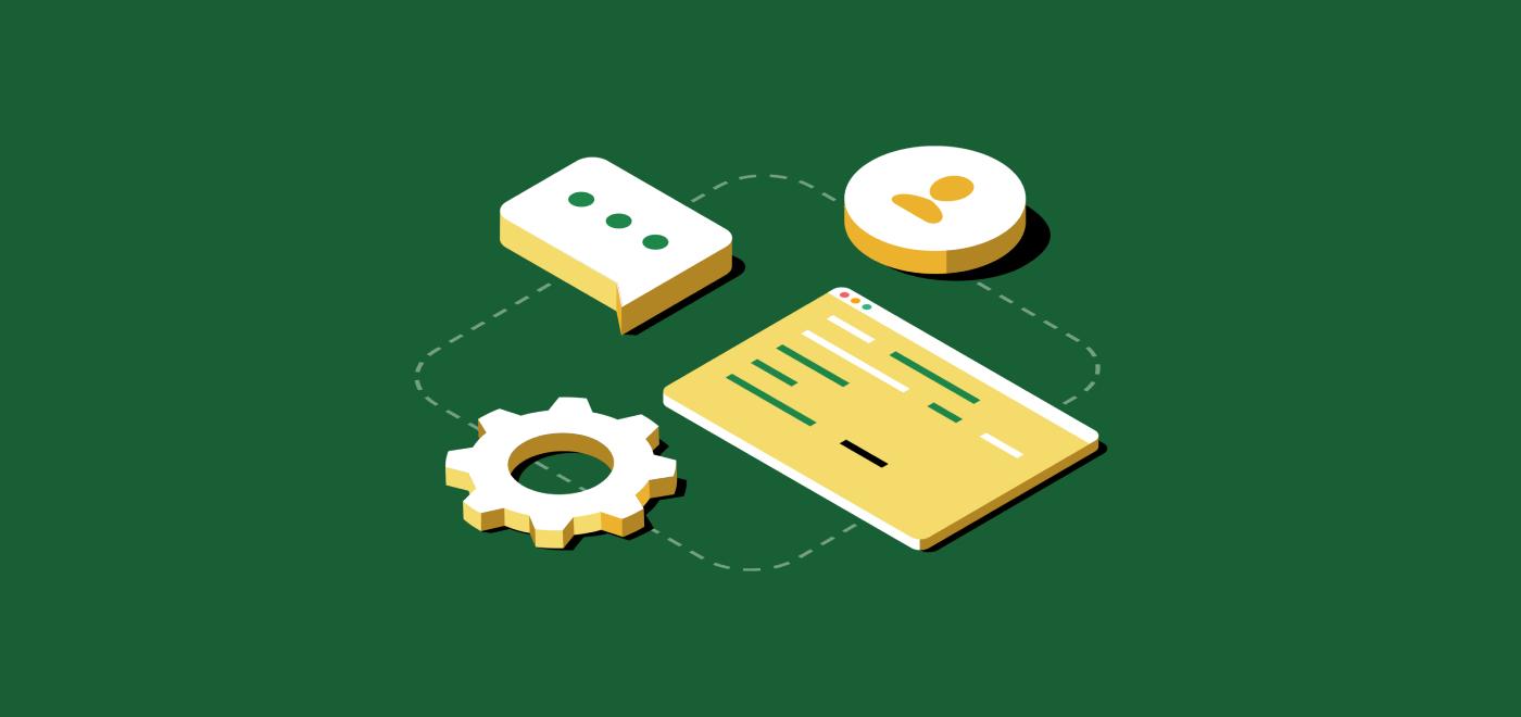 オペレーションチームを象徴するソフトウェアコードと歯車