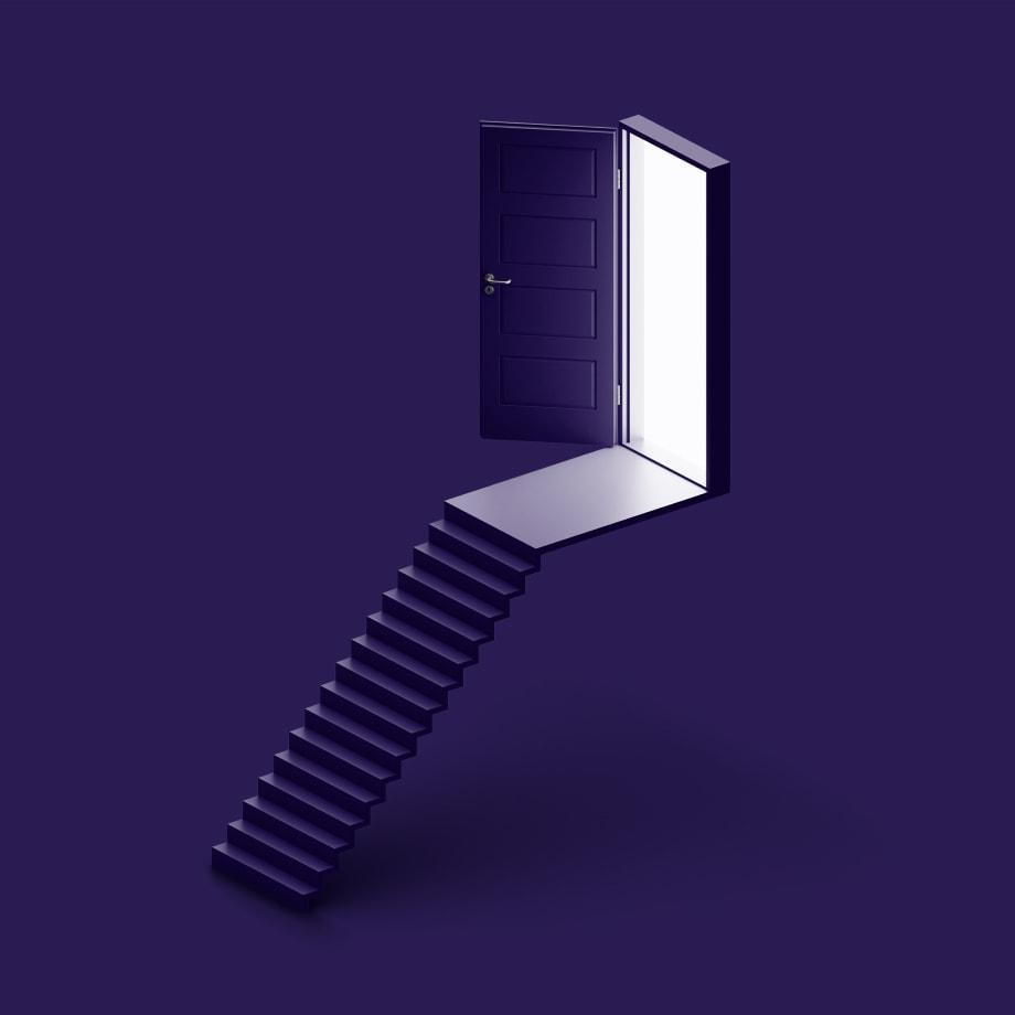 stairway to a floating door