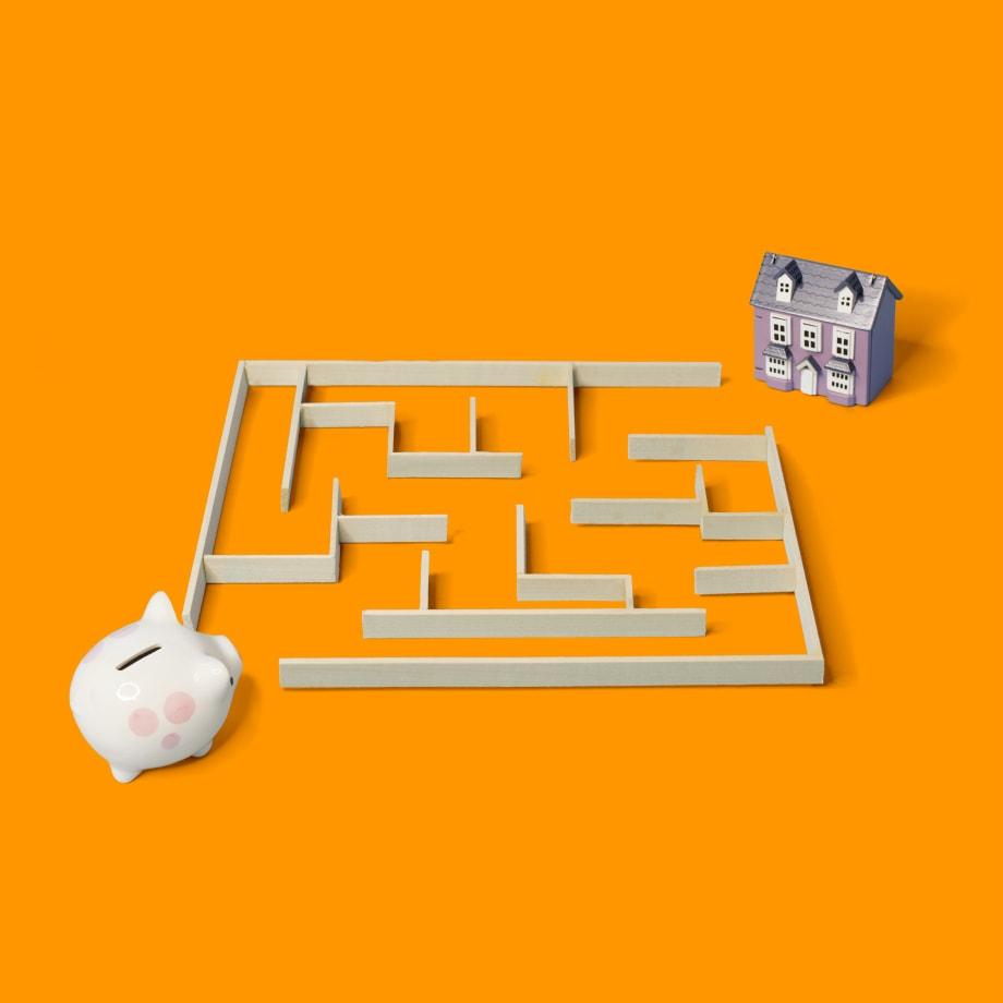 piggy bank maze