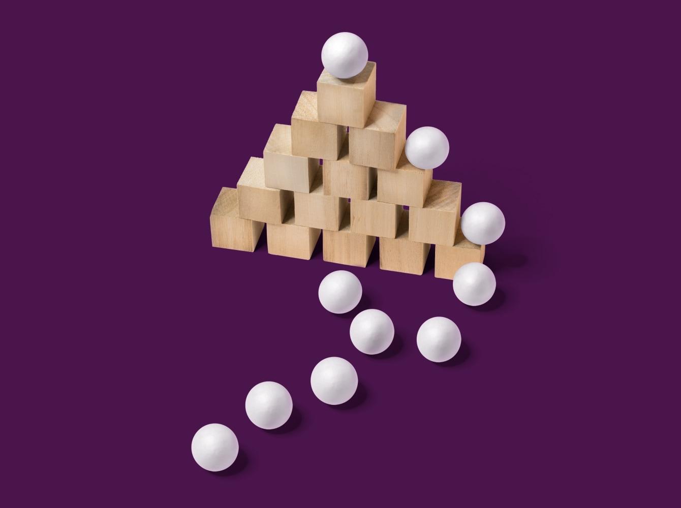 Stack of wooden blocks representing Slack's Engineering Platform