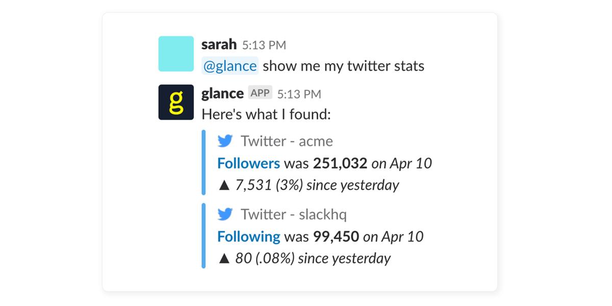 Glance screenshot