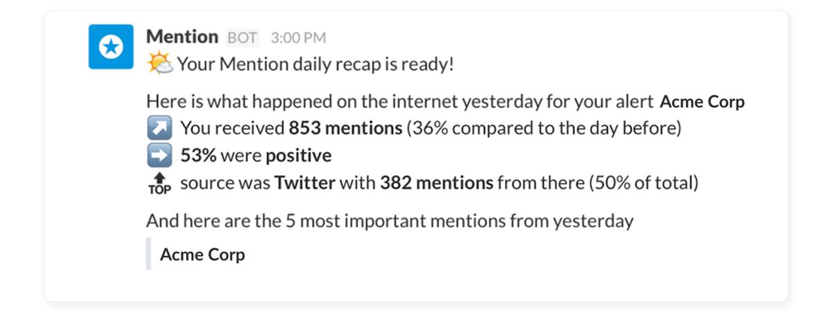 Mention integration screenshot