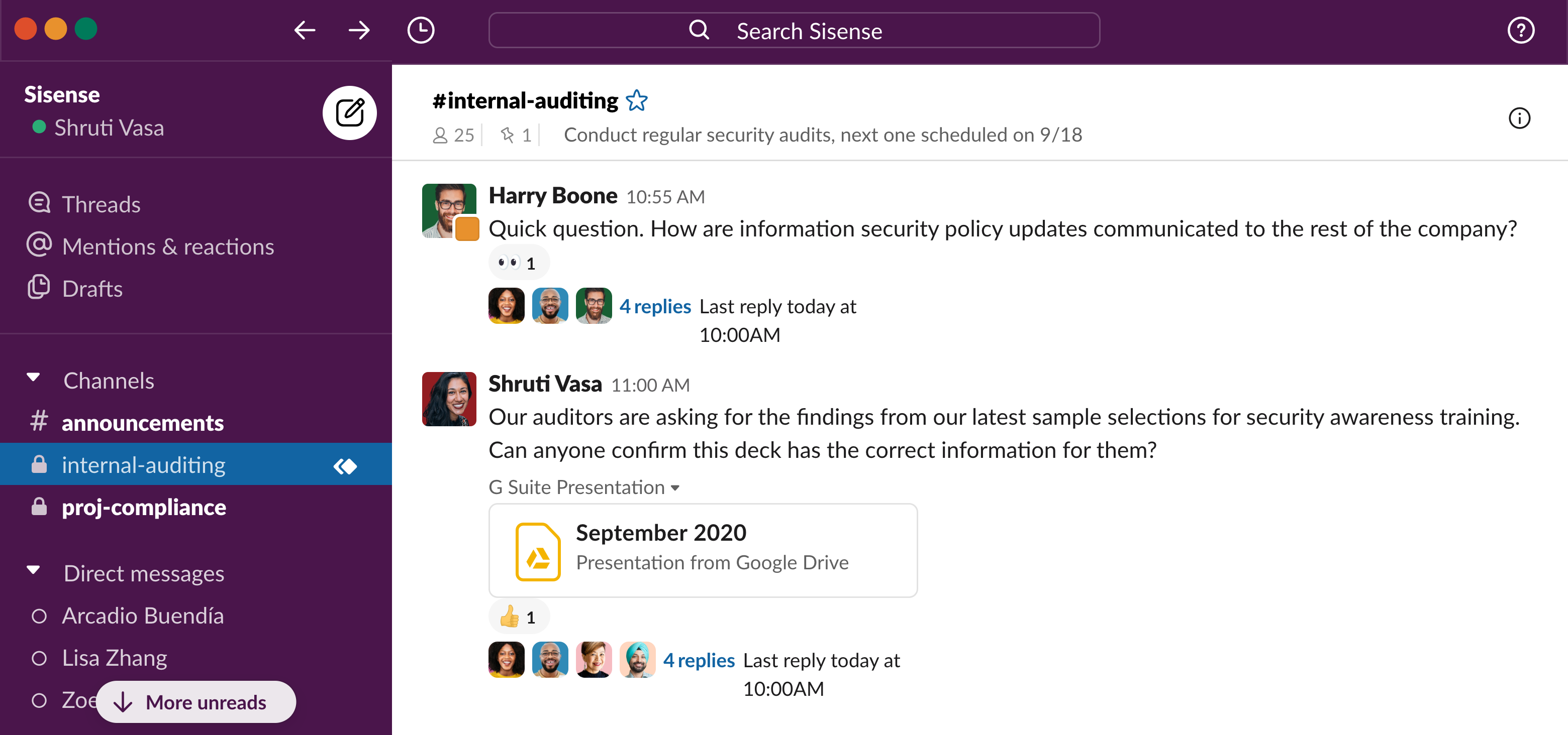 sisense security slack connect UI