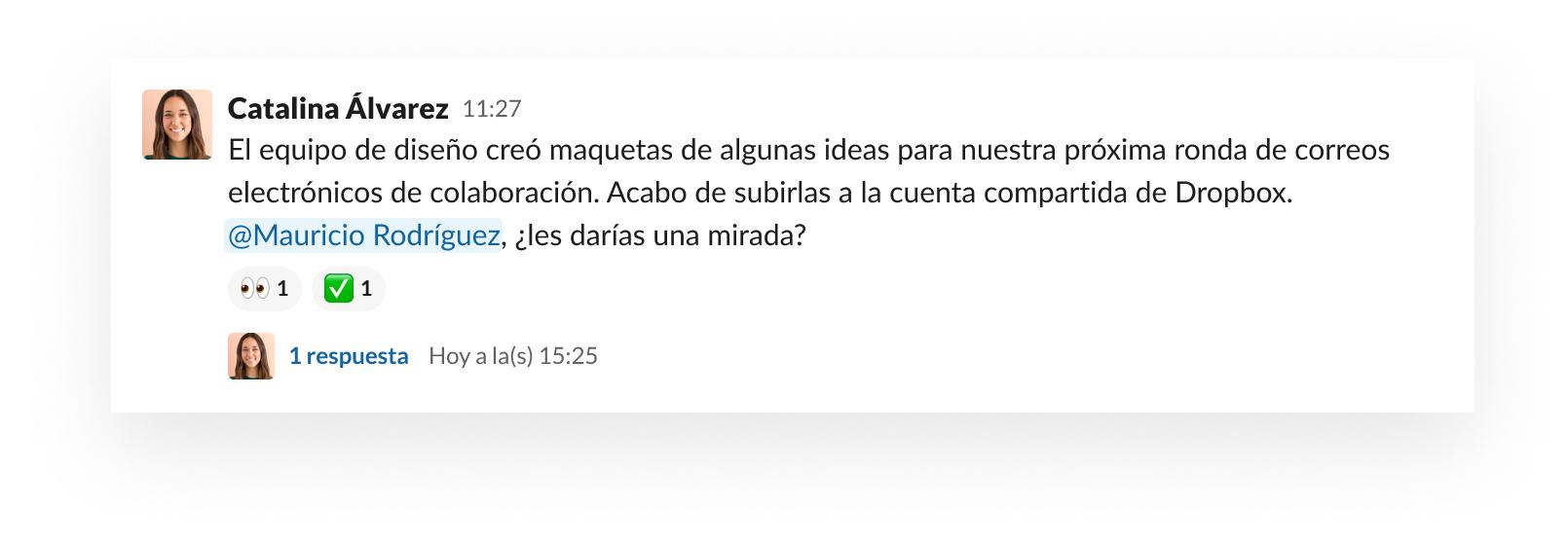 Recopilar comentarios rápidos en Slack