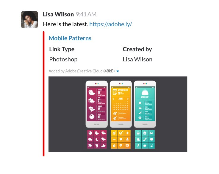 Slack Unfurl screenshot image