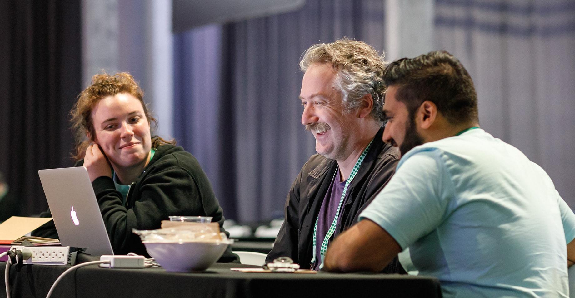slackathon frontiers 2019 participants working