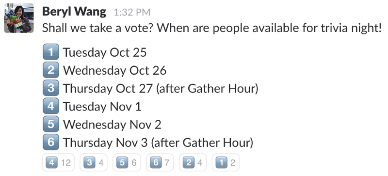 Voting with Slack emojis