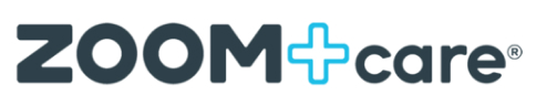 Zoom + care logo